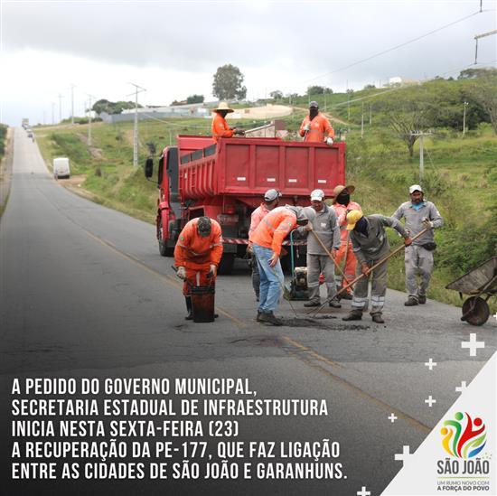 A pedido do Governo Municipal, Secretaria estadual de infraestrutura  inicia nesta sexta-feira (23)